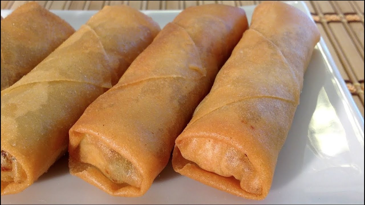 How to make lumpia egg rolls filipino asian food recipes youtube forumfinder Image collections