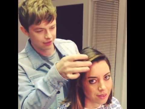 Dane DeHaan with Aubrey Plaza 2014.08.06