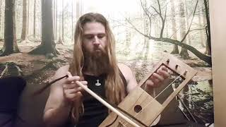 3 string  tagelharpa demo (pine wood/horse hair strings)