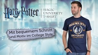 Harry Potter: Das Hogwarts-Shirt im Universitäts-Stil!