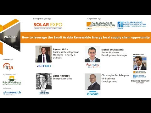 Webinar: How to leverage the Saudi Arabian Renewable Energy local supply chain