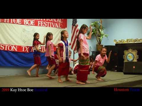 Kids Performing Dance At Kay Htoe Boe In Houston Texas