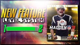 NEW LEVELING SYSTEM COMING TO MUT 18?? NEW XP SYSTEM!!!!!!