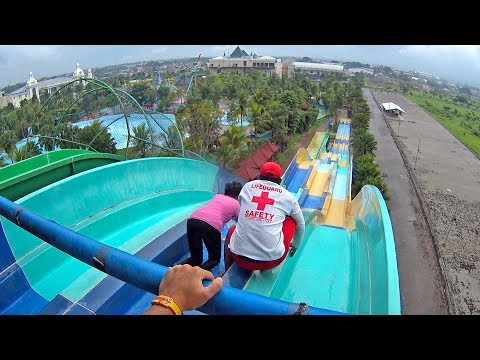 Ekolu Race Water Slide at Hawai Water Park Malang