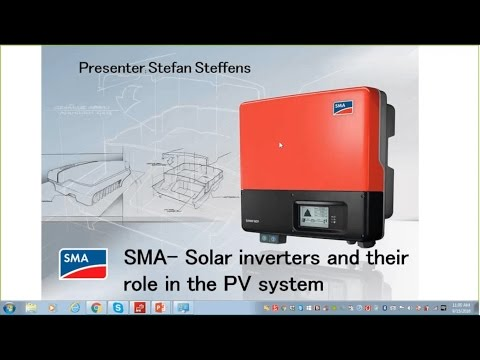 PROINSO Webinar Episode 5 - SMA solar inverters and their role in the PV system