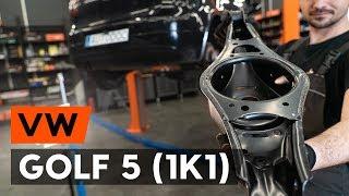 Comment remplacer un bras de suspension arrière sur VW GOLF 5 (1K1) [TUTORIEL AUTODOC]