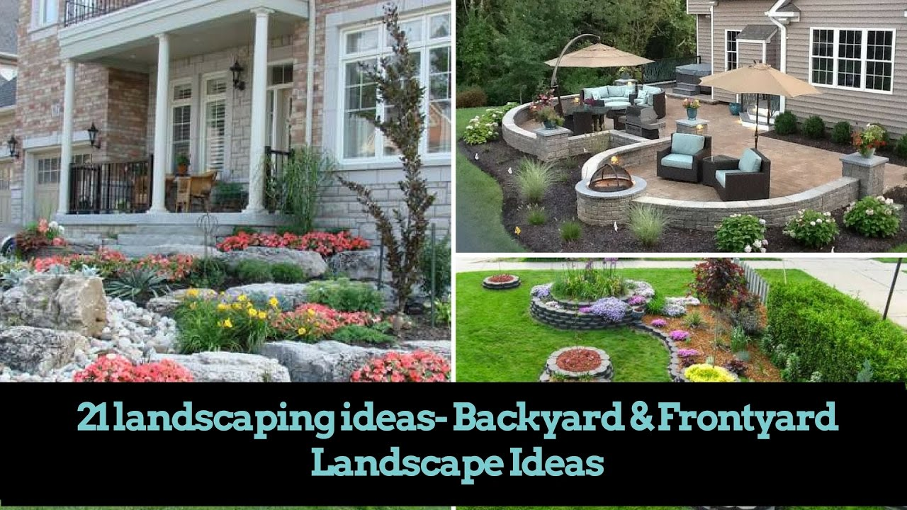 Easy Backyard Landscaping Ideas For Beginners In Square: 21 DIY Landscaping Ideas- Backyard & Front Yard Landscape