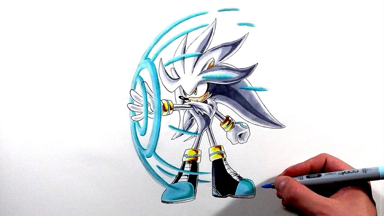 Drawing Silver The Hedgehog