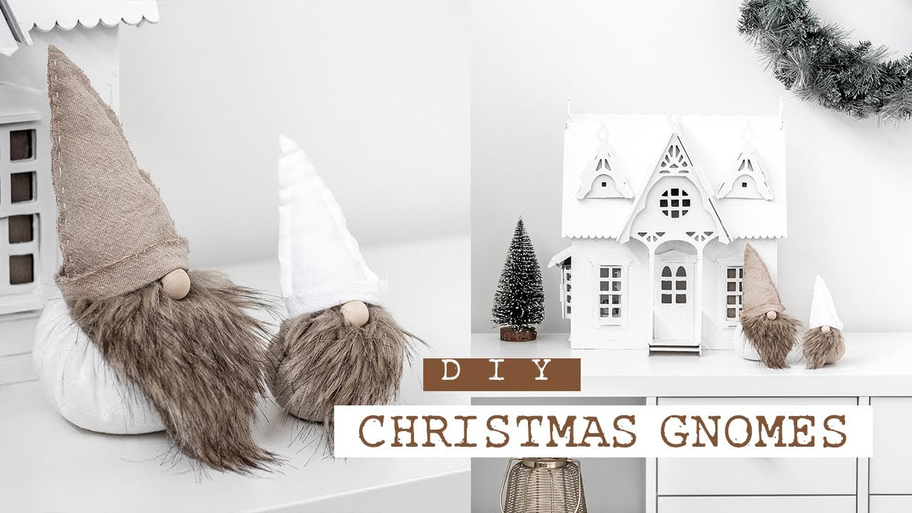 Diy Christmas Gnomes Scandinavian Boho Christmas Decor Youtube