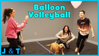 Balloon Volleyball Challenge I Jake and Ty
