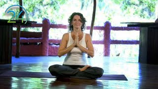 Yoga Morning Heart Expanding Practice ~ Intermediate Yoga Class ~ Full Length 49 minutes
