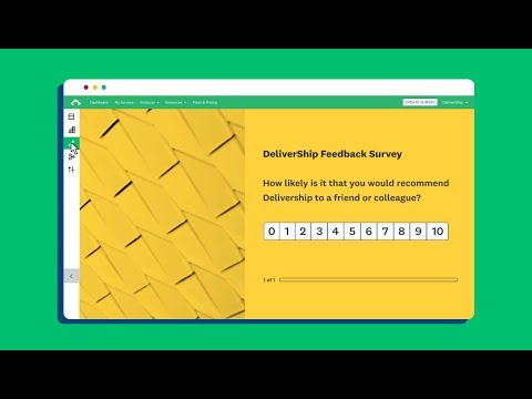 Creating a survey with SurveyMonkey