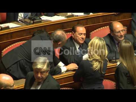 FILE: ITALIAN SENATE VOTES TO EXPEL BERLUSCONI