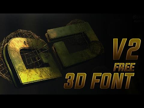 Download Free 3D font Pack V2 - YouTube