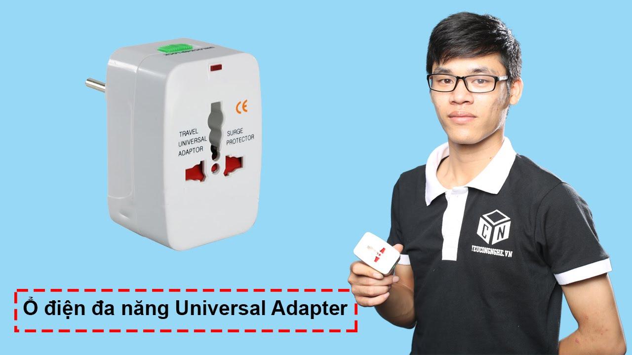 Ổ điện du lịch đa năng nhiều đầu cắm chuẩn các nước Universal Adapter