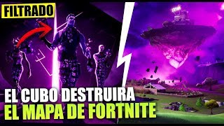 NEW SECRETS *THE CUBE DESTRUCTION THE MAP* SEASON 10 *FILTRATE* FORTNITE BATTLE ROYALE