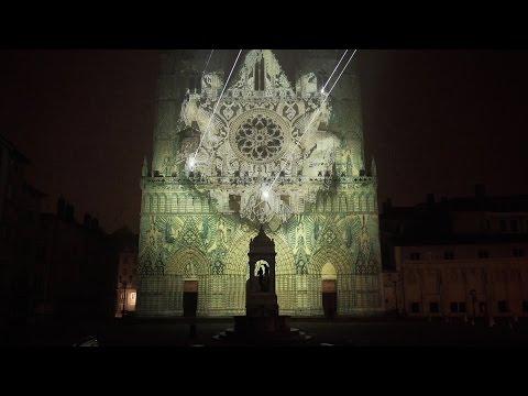 Yann Nguema / EZ3kiel - Mapping EVOLUTIONS @ Fêtes des lumières 2016 (Cathédrale StJean)