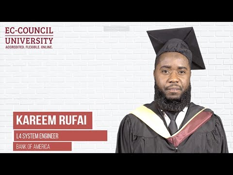 Kareem Rufai | Proud Alumni Of EC-Council University 2019 | Online Cybersecurity University