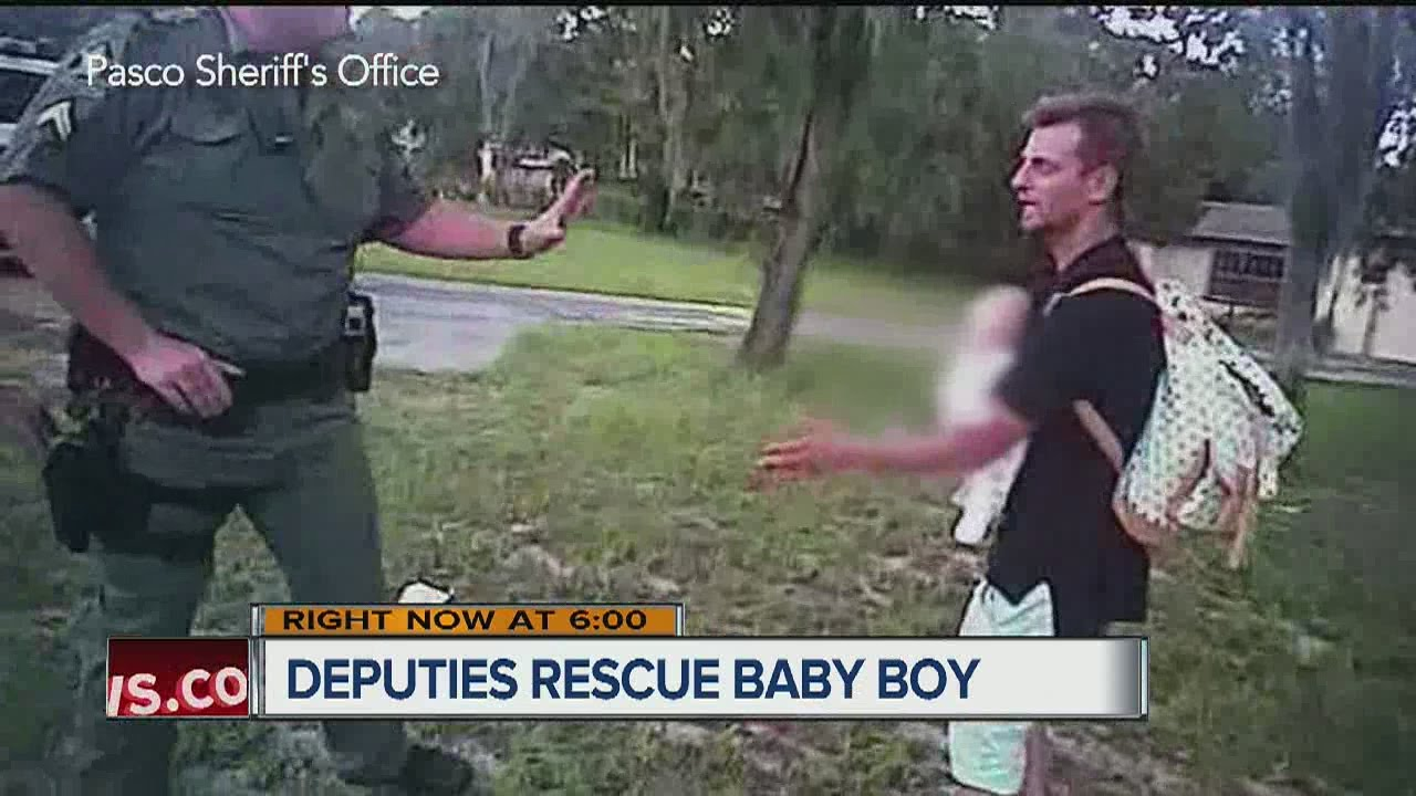Deputies rescue baby from man high on molly