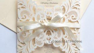 laser cutting wedding invitation cards  Cel;008613475903996