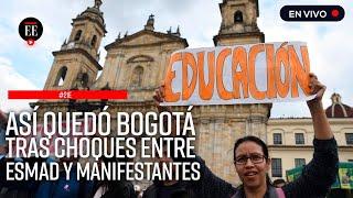 Paro nacional: concierto pacífico y disturbios en el centro de Bogotá