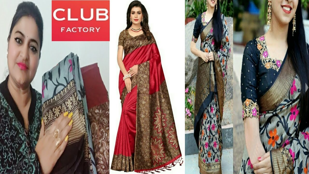 party wear sarees club factory Promotions