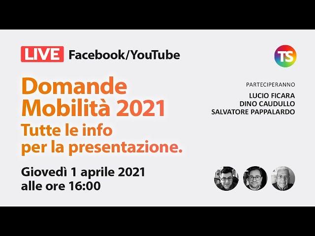 Mobilità 2021: tutte le info per la presentazione delle domande