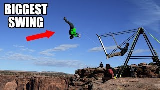 ** LAUNCHED OFF MASSIVE CLIFF! ** Most Epic Swing Ever!!!