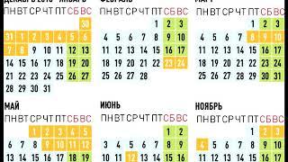 В 2019 году россиян ожидает 28 праздничных дней