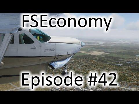 FSX | FSEconomy - Ep. #42 - Little Rock to Hampton | C208B Grand Caravan