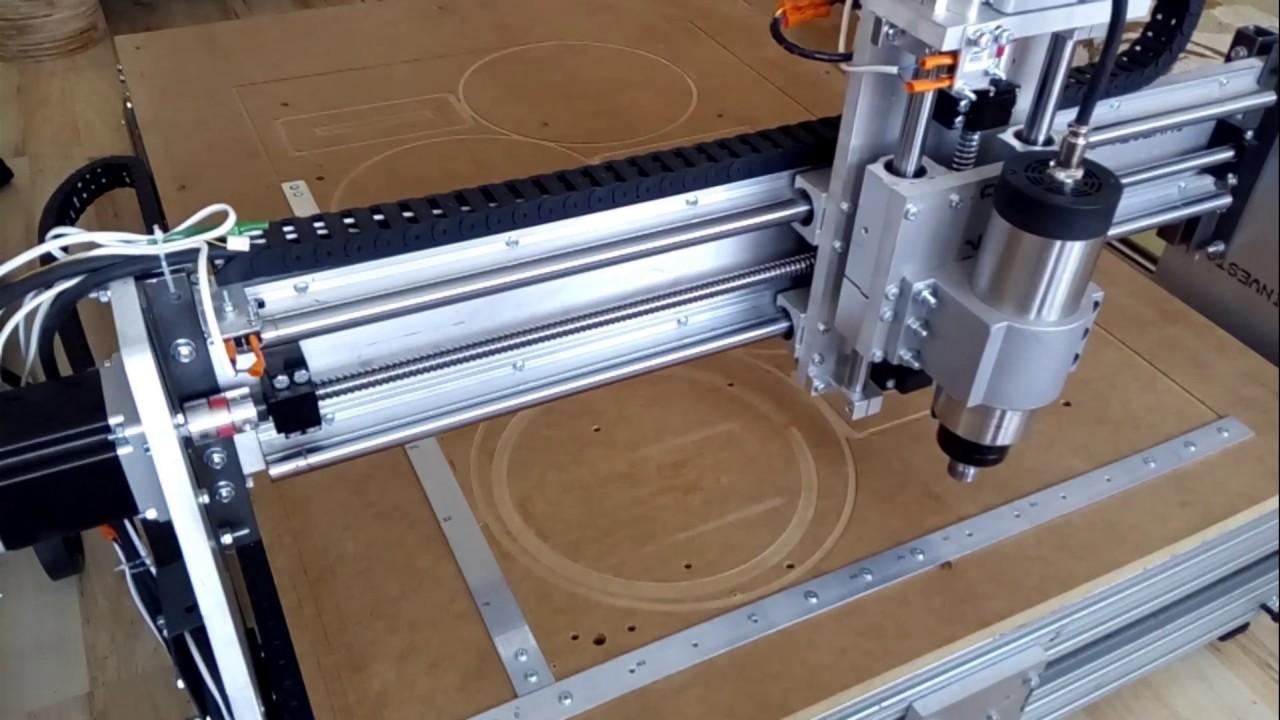 Bardzo dobra Frezarka CNC diy do drewna do metalu. - YouTube KG47