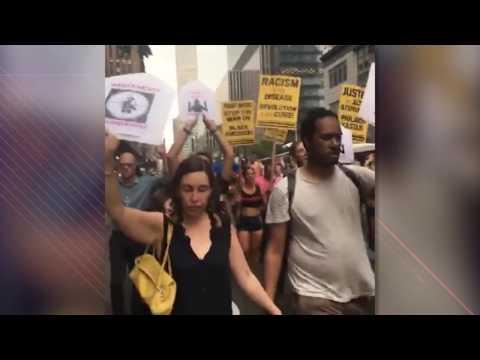 Massive March For Alton Sterling & Philando Castile in NYC