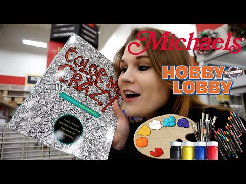 ART SUPPLIES SHOPPING (at Hobby Lobby and Michaels) - @dramaticparrot