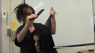 Haircutting class: long layers for beginners
