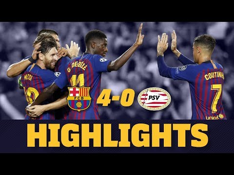 BARÇA 4 - 0 PSV | Match highlights