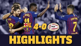 A 4-0 win over psv is how fc barcelona have started their 2018/19 champions league campaign, hat trick from leo messi and spectacular strike ousmane...