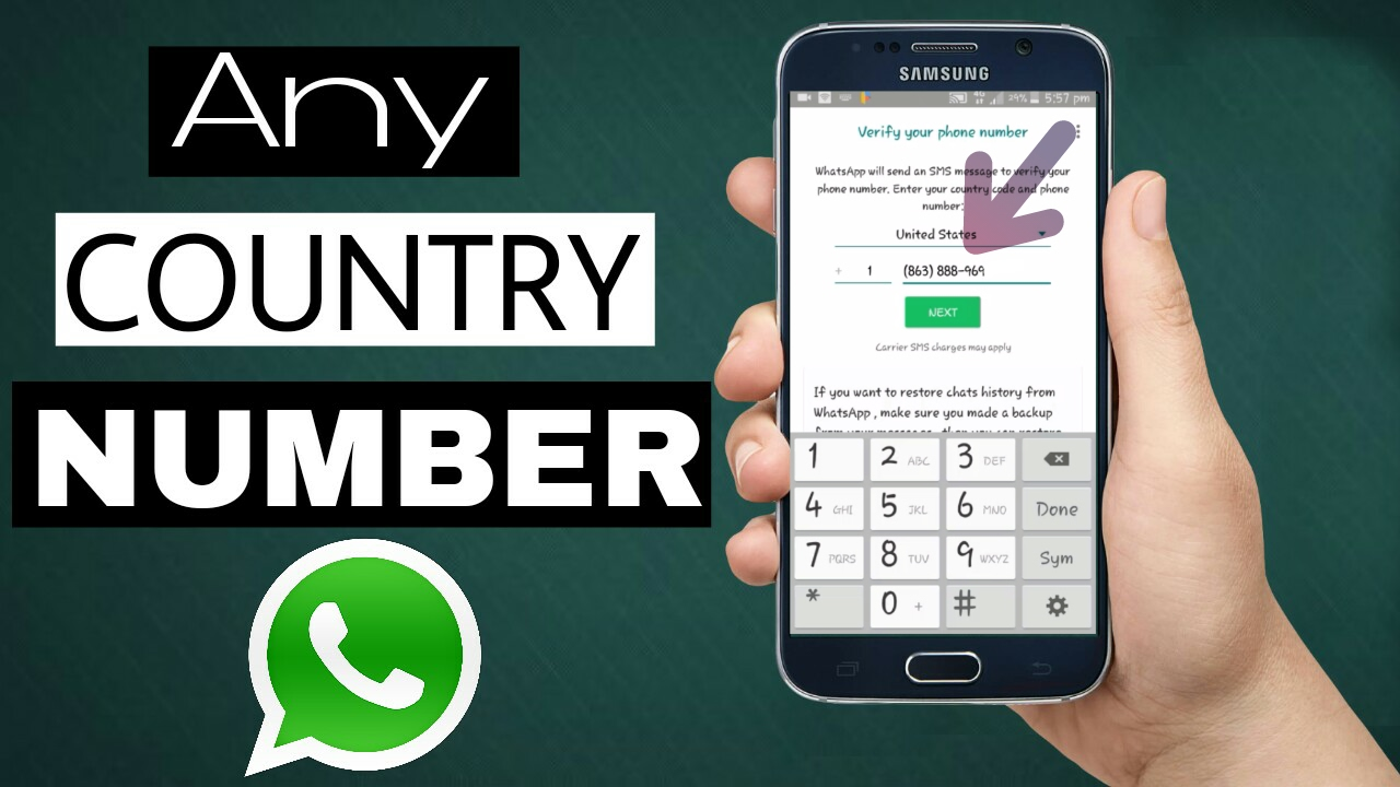 how to Create any country number WhatsApp Account