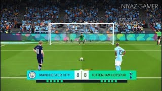 MANCHESTER CITY vs TOTTENHAM | Penalty Shootout | PES 2018 Gameplay PC