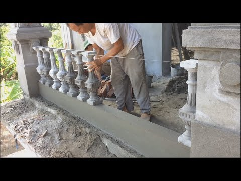 Installing A Precast Balustrade How To Make A Concrete