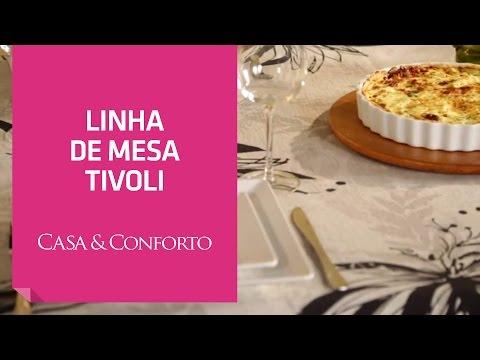 Linha de Mesa Tivoli Casa & Conforto   Shoptime
