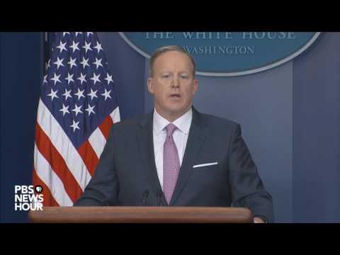 Watch Sean Spicer's first official press...