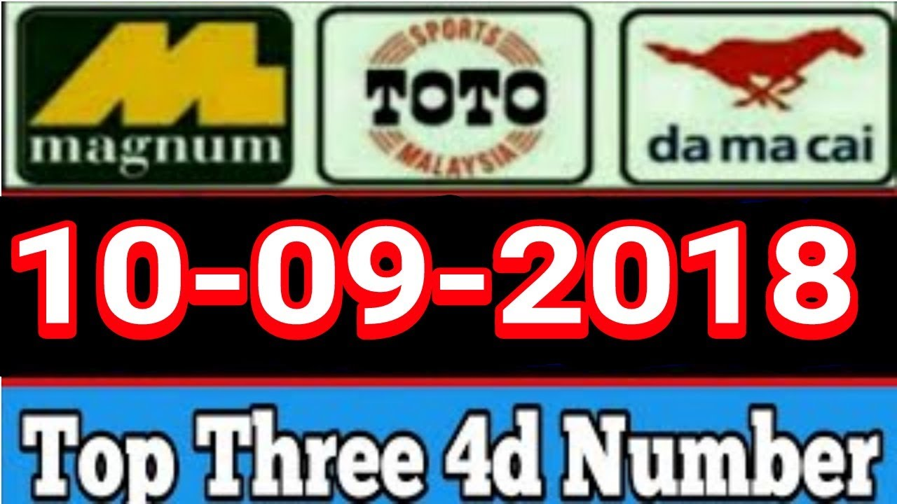 10-09-2018 4d Malaysia & Singapore & Thailand 4d Lucky Number