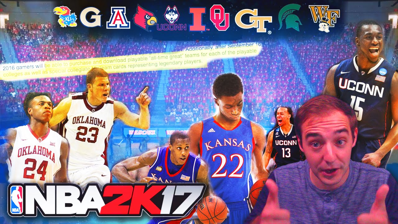 b902a086b NBA 2K17 ALL TIME COLLEGE TEAMS! PLUS LEGENDARY COLLEGE MyTEAM CARDS ...