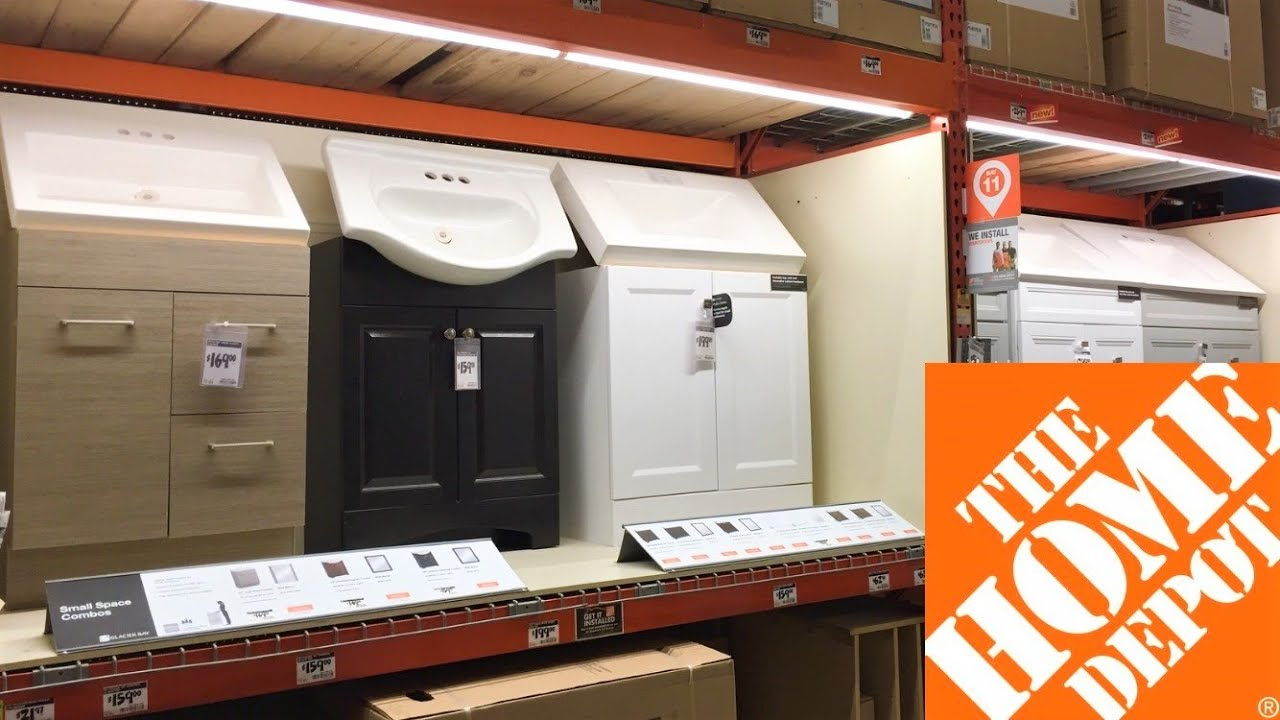 Home Depot Bathroom Vanities Sinks Cabinets Shop With Me Shopping Store Walk Through 4k Youtube