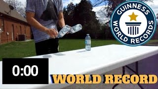 MOST WATER BOTTLE FLIPS IN ONE MINUTE | GUINNESS WORLD RECORD