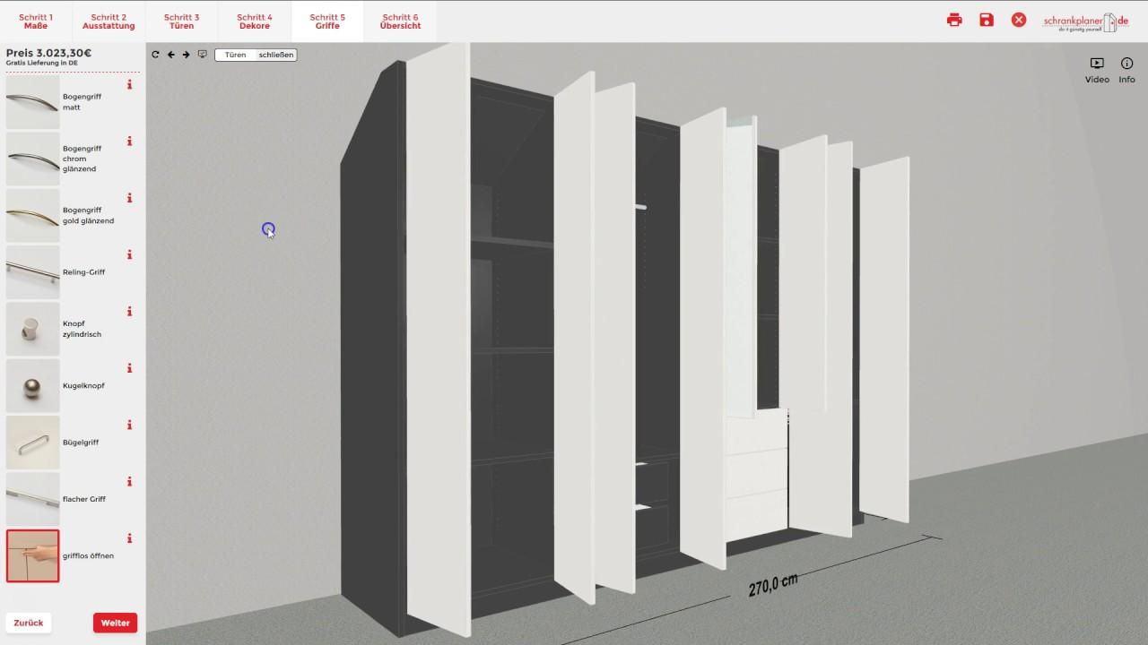 erkl rvideo zum ma m bel konfigurator schrank. Black Bedroom Furniture Sets. Home Design Ideas