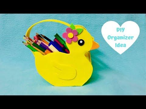 DIY Organizer, Desk Organizer, Cardboard Organizer, Kawaii organizer