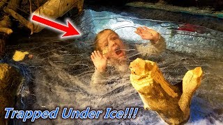 Trapped Under Ice!! Exploring in the Dinosaur Museum!