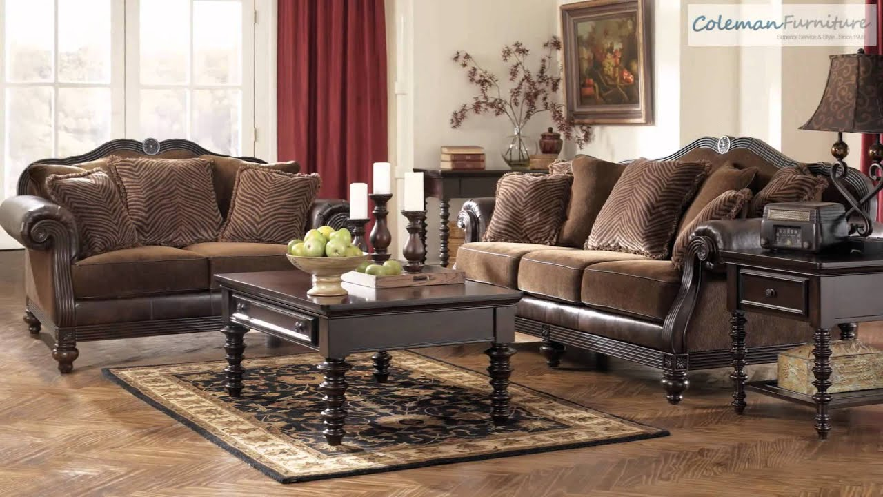 Key Town Truffle Living Room Furniture From Millennium By Ashley Youtube