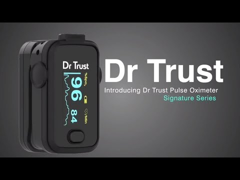 dr-trust-usa-fingertip-pulse-oximeter-signature-series-201-spo2-check---how-to-use-and-features-demo